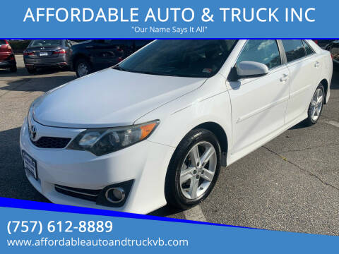 2014 Toyota Camry for sale at AFFORDABLE AUTO & TRUCK INC in Virginia Beach VA