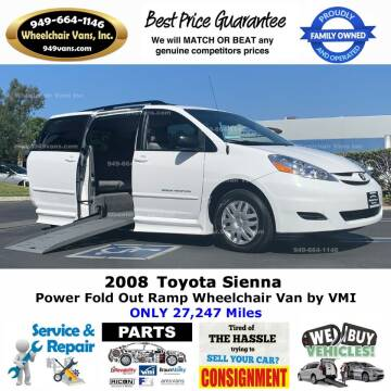 2008 Toyota Sienna for sale at Wheelchair Vans Inc - New and Used in Laguna Hills CA
