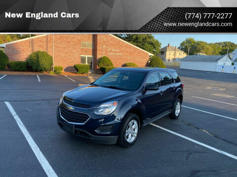 2017 Chevrolet Equinox for sale at New England Cars in Attleboro MA