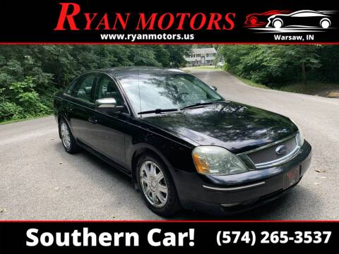 2007 Ford Five Hundred for sale at Ryan Motors LLC in Warsaw IN