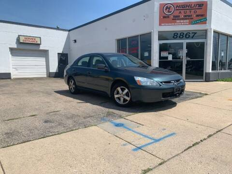 2004 Honda Accord for sale at HIGHLINE AUTO LLC in Kenosha WI
