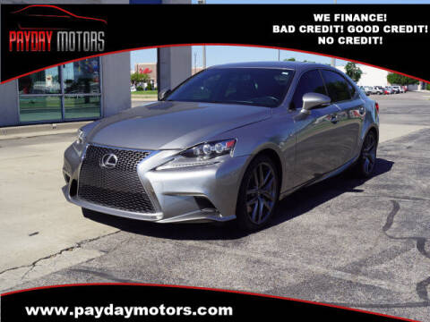 2015 Lexus IS 350 for sale at Payday Motors in Wichita KS