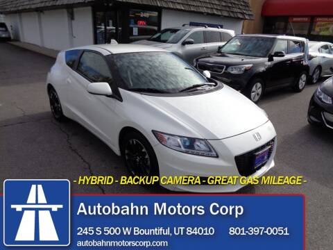 2015 Honda CR-Z for sale at Autobahn Motors Corp in Bountiful UT