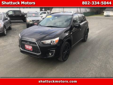 2013 Mitsubishi Outlander Sport for sale at Shattuck Motors in Newport VT