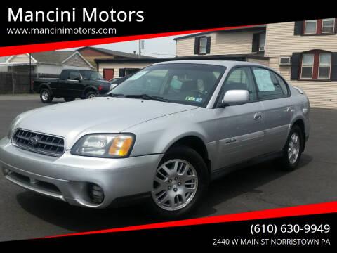 2004 Subaru Outback for sale at Mancini Motors in Norristown PA