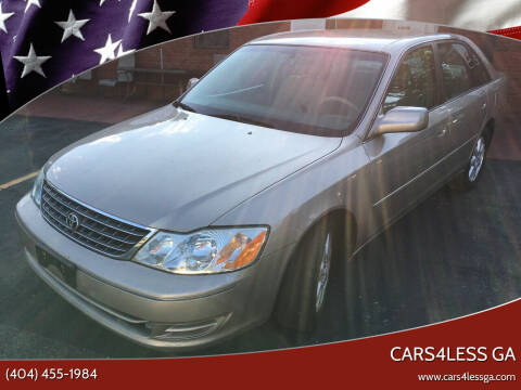 2003 Toyota Avalon for sale at Cars4Less GA in Alpharetta GA