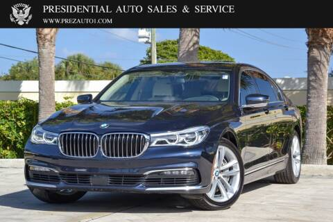 2016 BMW 7 Series for sale at Presidential Auto  Sales & Service in Delray Beach FL