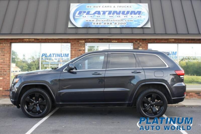 2015 Jeep Grand Cherokee for sale at Platinum Auto World in Fredericksburg VA