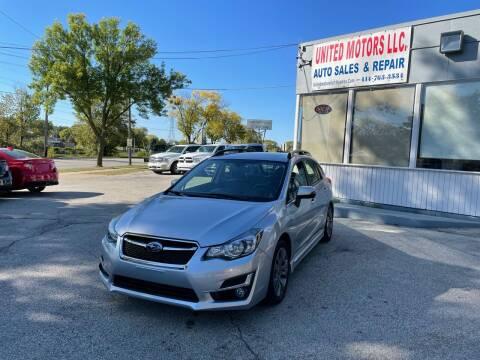 2015 Subaru Impreza for sale at United Motors LLC in Saint Francis WI