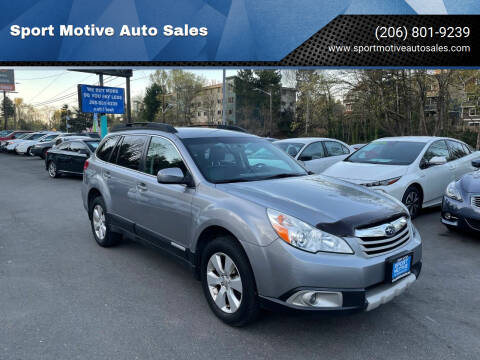 2011 Subaru Outback for sale at Sport Motive Auto Sales in Seattle WA