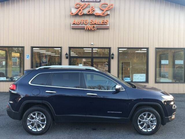 2016 Jeep Cherokee for sale at K & L AUTO SALES, INC in Mill Hall PA