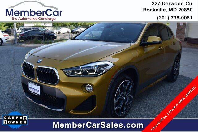 2018 BMW X2 for sale at MemberCar in Rockville MD