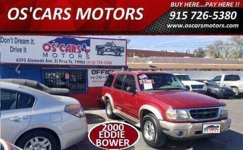 2000 Ford Explorer for sale at Os'Cars Motors in El Paso TX