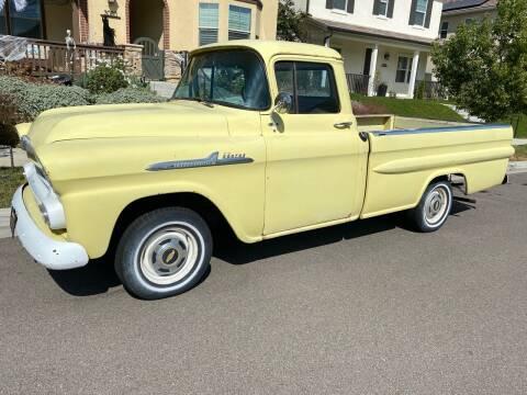 1958 Chevrolet Apache for sale at Dan Reed Autos in Escondido CA