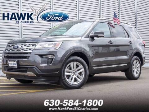 2019 Ford Explorer for sale at Hawk Ford of St. Charles in St Charles IL