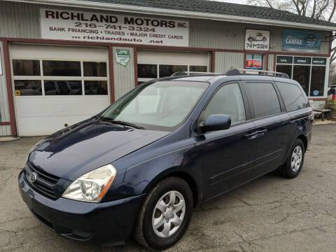 2006 Kia Sedona for sale at Richland Motors in Cleveland OH