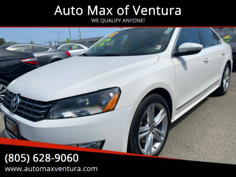2012 Volkswagen Passat for sale at Auto Max of Ventura in Ventura CA