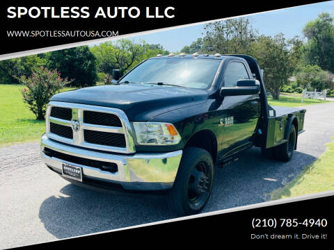 2017 RAM Ram Chassis 3500 for sale at SPOTLESS AUTO LLC in San Antonio TX