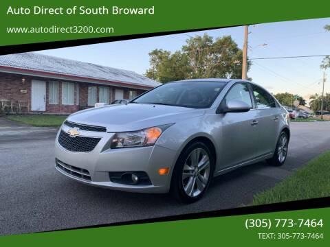 2013 Chevrolet Cruze for sale at Auto Direct of South Broward in Miramar FL