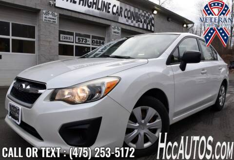 2013 Subaru Impreza for sale at The Highline Car Connection in Waterbury CT