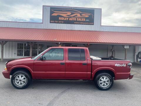 2002 GMC Sonoma for sale at Ridley Auto Sales, Inc. in White Pine TN