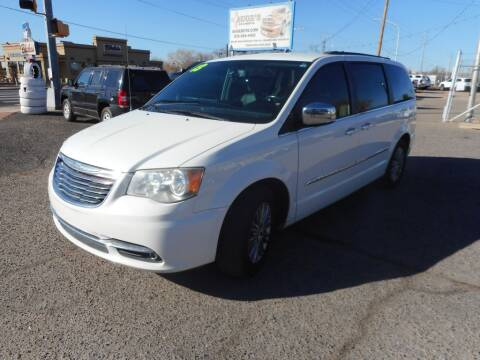 2013 Chrysler Town and Country for sale at AUGE'S SALES AND SERVICE in Belen NM