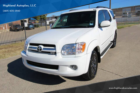 2005 Toyota Sequoia for sale at Highland Autoplex, LLC in Dallas TX