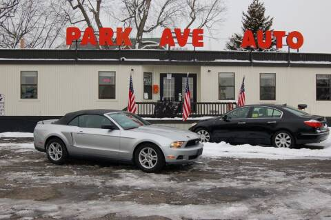 2011 Ford Mustang for sale at Park Ave Auto Inc. in Worcester MA