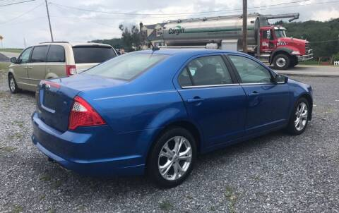 2012 Ford Fusion for sale at CESSNA MOTORS INC in Bedford PA