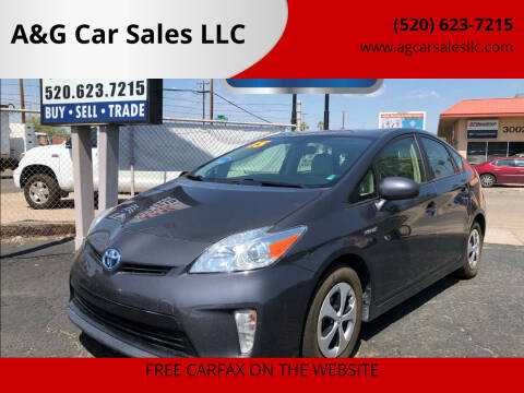 2015 Toyota Prius for sale at A&G Car Sales  LLC in Tucson AZ
