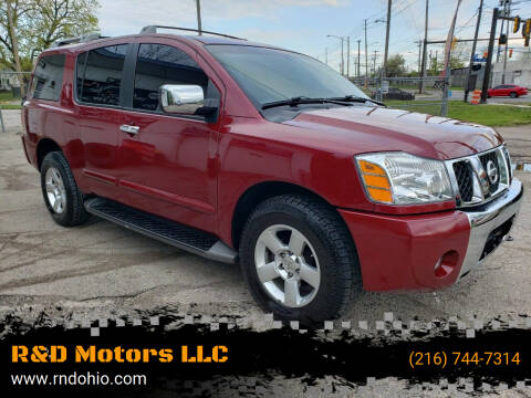 2006 Nissan Armada for sale at R&D Motors LLC in Cleveland OH