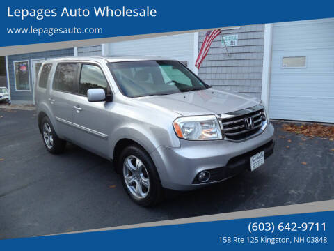 2012 Honda Pilot for sale at Lepages Auto Wholesale in Kingston NH