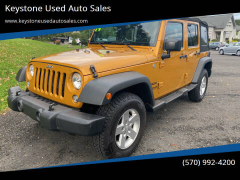 2014 Jeep Wrangler Unlimited for sale at Keystone Used Auto Sales in Brodheadsville PA