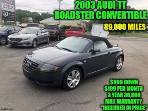 2003 Audi TT for sale at D&D Auto Sales, LLC in Rowley MA
