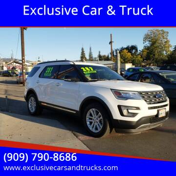 2017 Ford Explorer for sale at Exclusive Car & Truck in Yucaipa CA