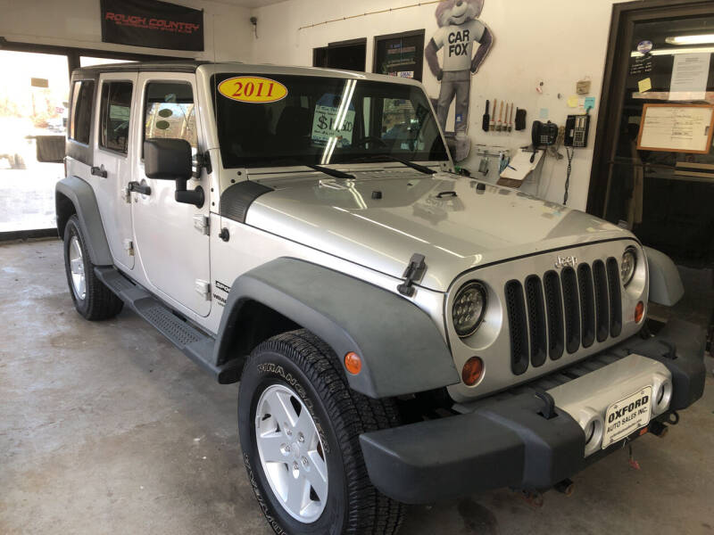 2011 Jeep Wrangler Unlimited for sale at Oxford Auto Sales in North Oxford MA