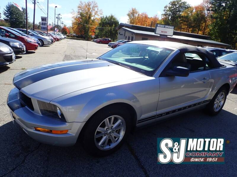 2007 Ford Mustang for sale at S & J Motor Co Inc. in Merrimack NH