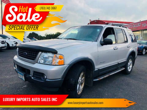 2002 Ford Explorer for sale at LUXURY IMPORTS AUTO SALES INC in North Branch MN
