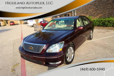 2004 Lexus LS 430 for sale at Highland Autoplex, LLC in Dallas TX
