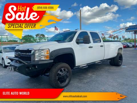 2012 Chevrolet Silverado 3500HD for sale at ELITE AUTO WORLD in Fort Lauderdale FL