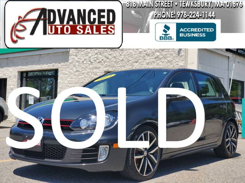 2013 Volkswagen GTI for sale at Advanced Auto Sales in Dracut MA