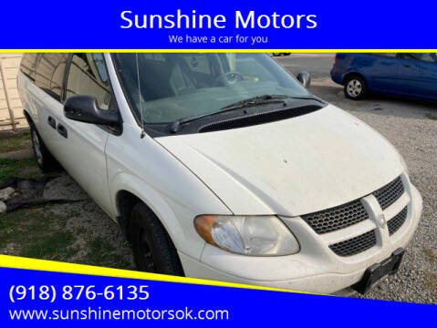 2003 Dodge Grand Caravan for sale at Sunshine Motors in Bartlesville OK
