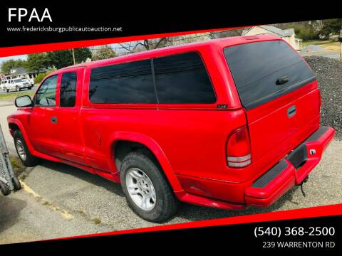 2004 Dodge Dakota for sale at FPAA in Fredericksburg VA