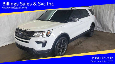 2019 Ford Explorer for sale at Billings Sales & Svc Inc in Clyde OH