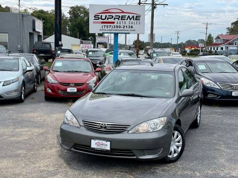 2005 Toyota Camry for sale at Supreme Auto Sales in Chesapeake VA