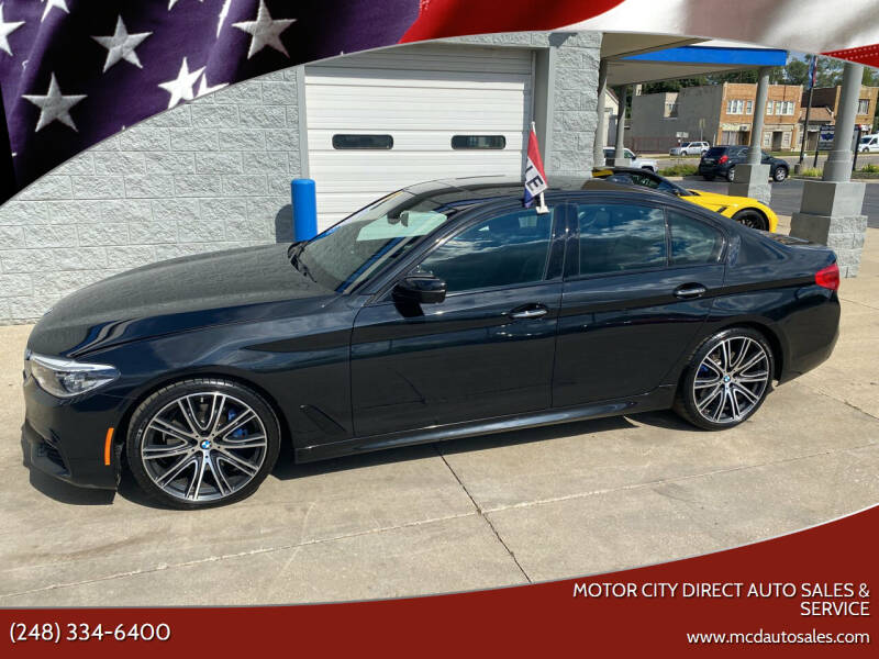 2018 BMW 5 Series for sale at Motor City Direct Auto Sales & Service in Pontiac MI