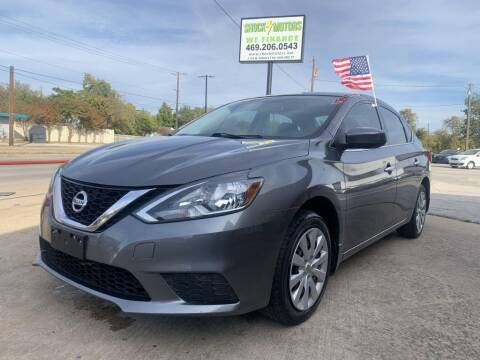 2016 Nissan Sentra for sale at Shock Motors in Garland TX