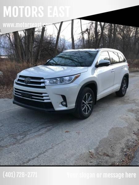 2017 Toyota Highlander for sale at MOTORS EAST in Cumberland RI