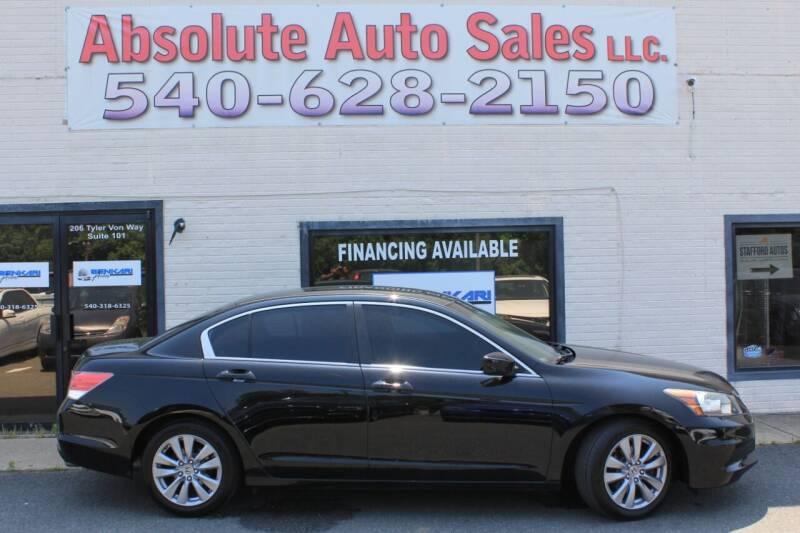 2012 Honda Accord for sale at Absolute Auto Sales in Fredericksburg VA