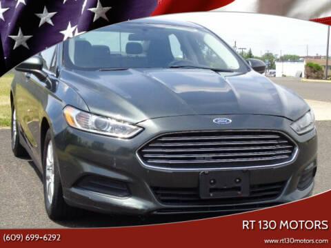 2015 Ford Fusion for sale at RT 130 Motors in Burlington NJ